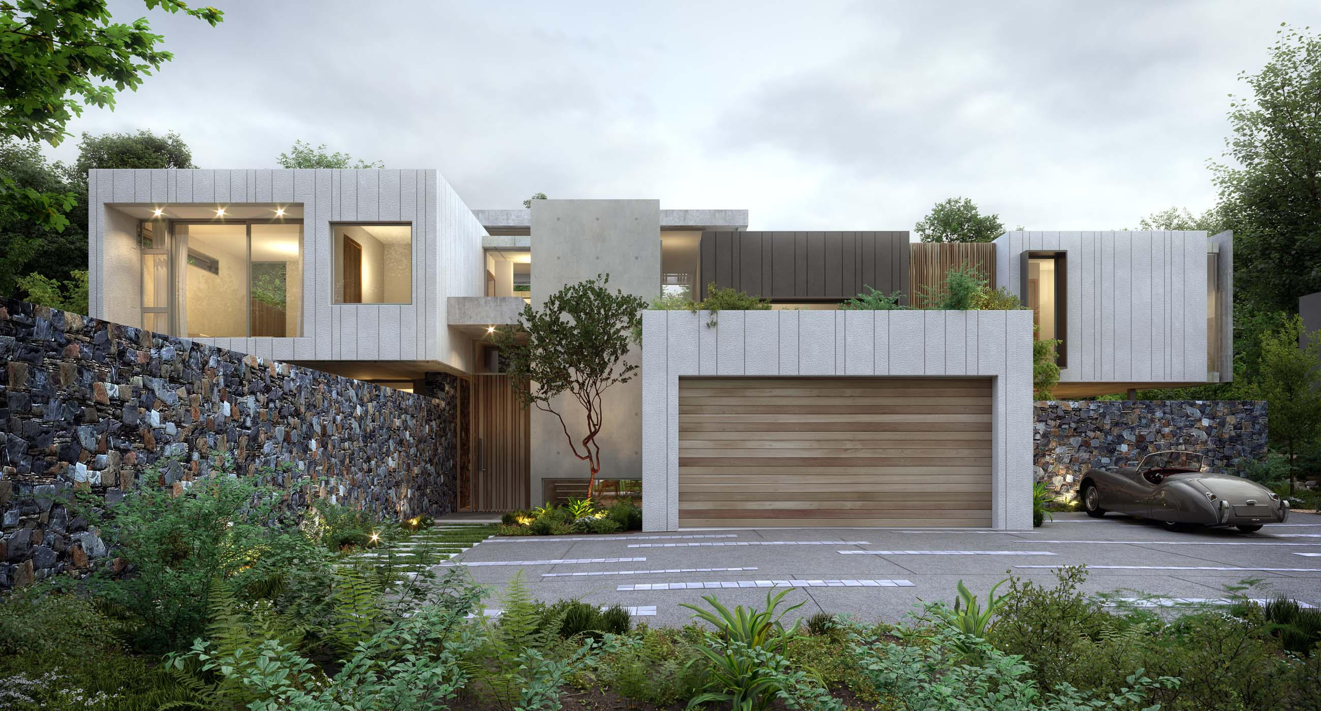 Botanica At Hohenort Metropolis Design - Contemporary-house-architecture-to-get-surroundings-of-nature